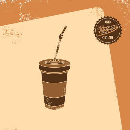 vintage brown juice Vector