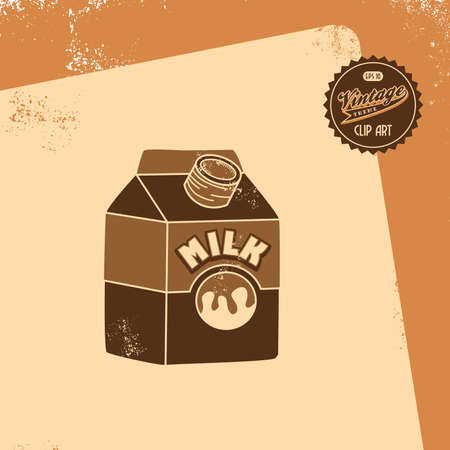 vintage brown milk Vector
