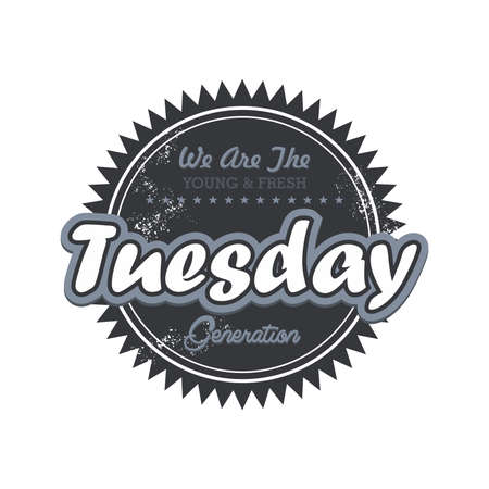tuesday: day label tuesday