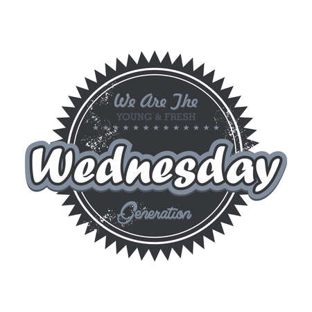 day label wednesday Vector