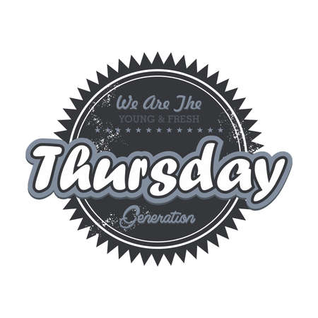 day label tuesday Vector