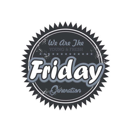 day label friday Vector