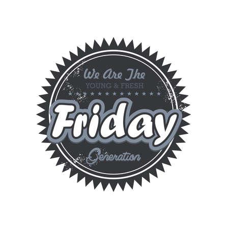 weekdays: day label friday