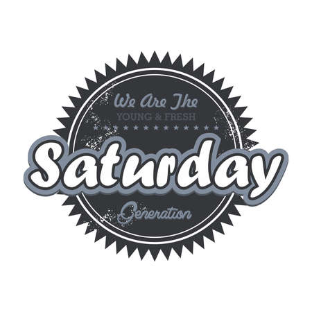 saturday: day label saturday Illustration