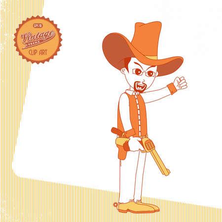 vintage page cowboy mad Vector