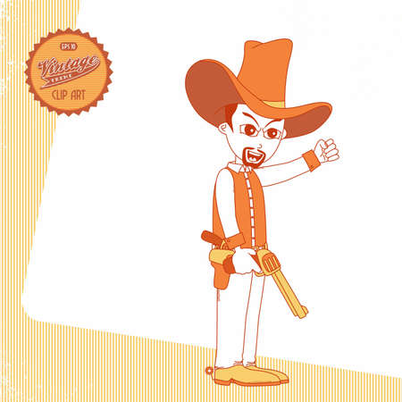 stage coach: vintage page cowboy mad