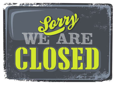 closed sign store Vector
