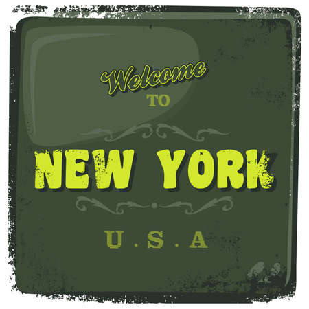 greeting sign new york Vector