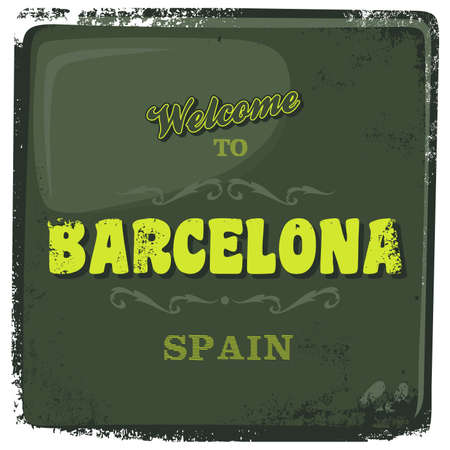 greeting sign barcelona Vector