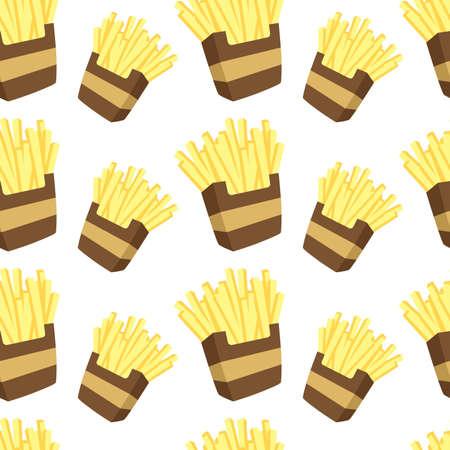 prepared potato: french fries pattern