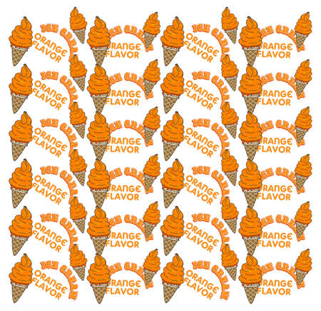 ice cream orange Vector