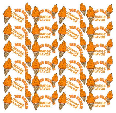 ice cream orange Stock Vector - 20619290