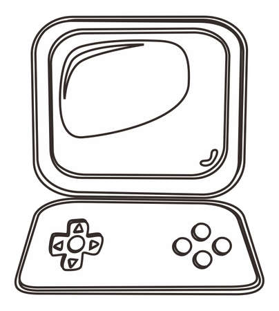 outline art gaming Vector