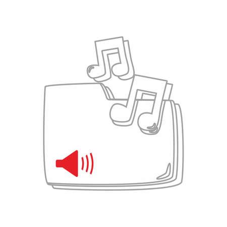 music art outline Illustration