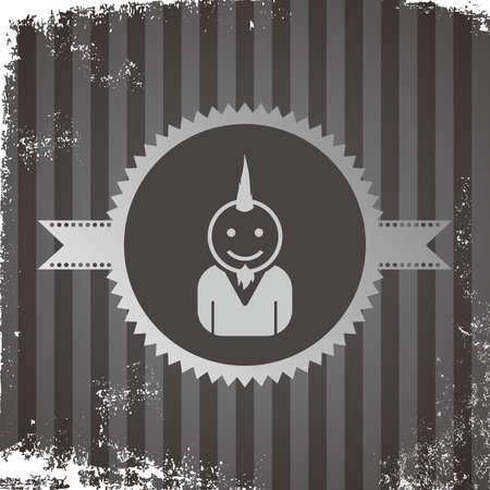 punk avatar guy portrait Vector