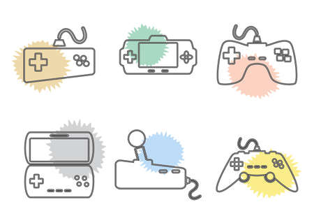 game icon set color Stock Vector - 21061863