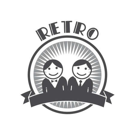 family discussion: retro avatar twin
