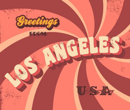 greeting sign los angeles Vector
