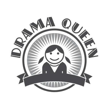 drama queen avatar retro Illustration
