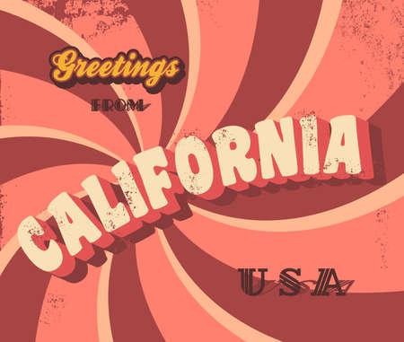california greeting sign Vector