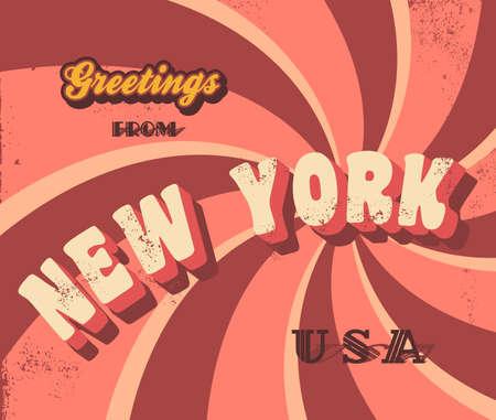 ニューヨーク挨拶記号  イラスト・ベクター素材