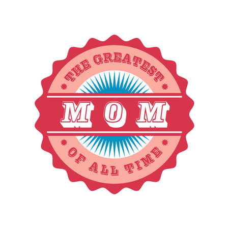 mom label Vector