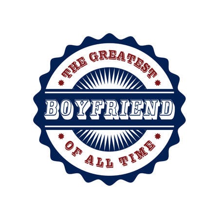 boyfriend label Vector