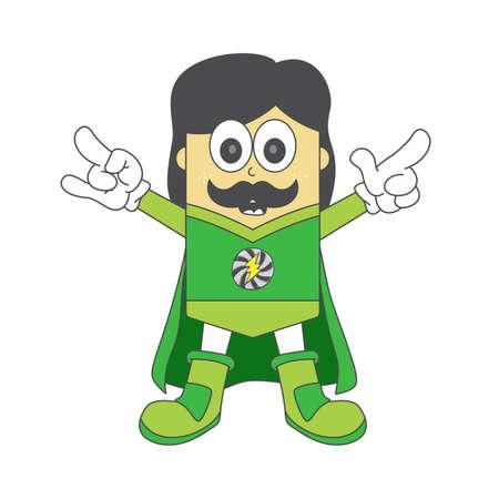 heroic: boy hero green