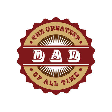 classic label dad Vector
