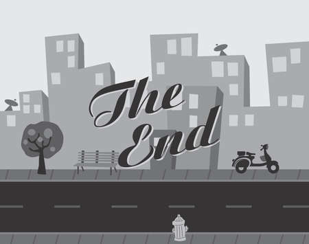 the end title Stock Vector - 22221714