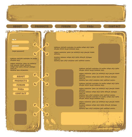 web page template brown Vector