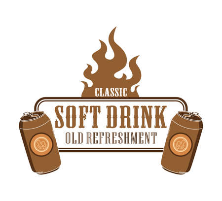 flame theme soft drink Vector