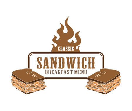 fire label sandwich Vector