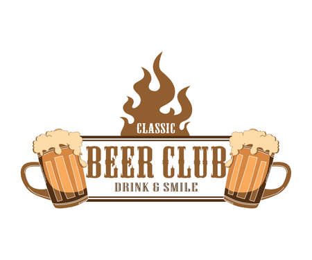 fire label beer club Vector