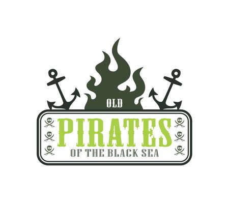daring: pirate label anchor