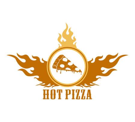 fire label pizza