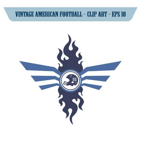 football helmet label Illustration