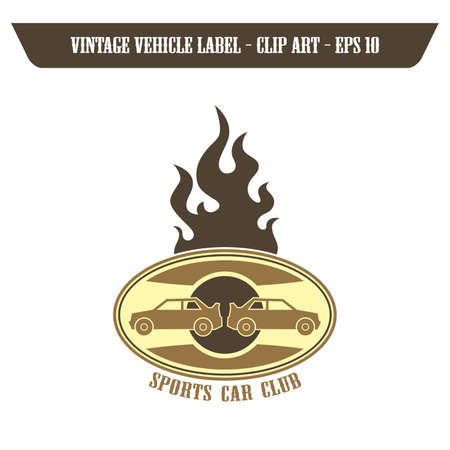 sports car label Vector