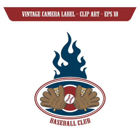 glove baseball label Vector