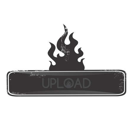 upload fire button Vector