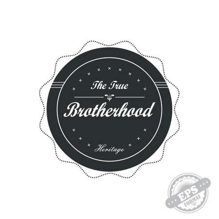brotherhood: brotherhood label art Illustration