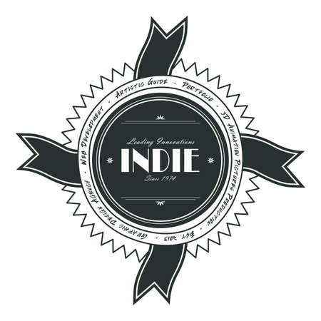 indie: cinta indie arte de la etiqueta Vectores