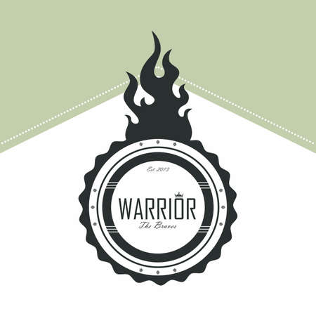 warrior label Stock Vector - 21044068