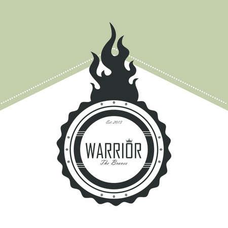 warrior label Stock Vector - 21044068