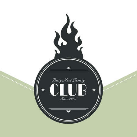 club label Vector