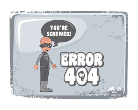 error page 404 villain guy Vector