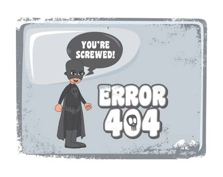 error page cartoon mask guy Vector