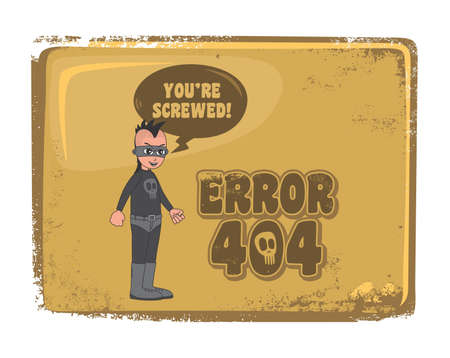 error page 404 brown theme Vector