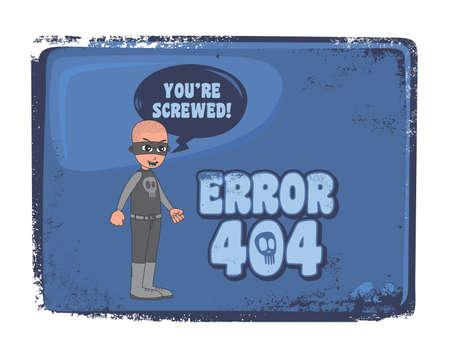 villain bald error 404 Vector