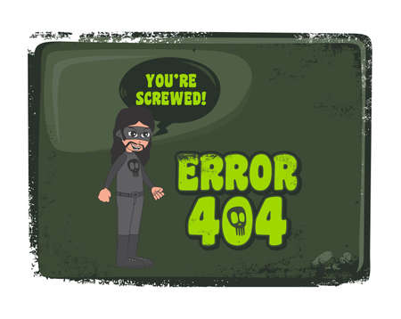 error cartoon page 404 Vector